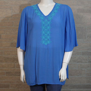 LIlly PUlitzer Target Camellia XL Blue Tunic Shirt